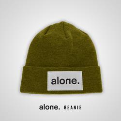 alone. - alone. Green Beanie