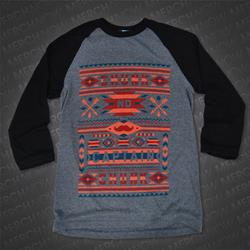 Navajo Grey/Black Baseball Tee