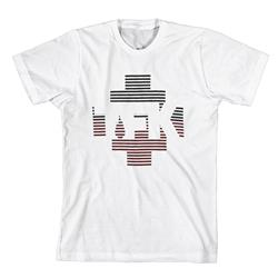 Black & Red Stripes Logo White
