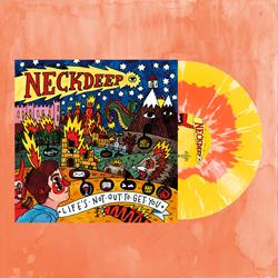 Life's Not Out To Get You Red A Side/Yellow B Side W/White Splatter Vinyl LP