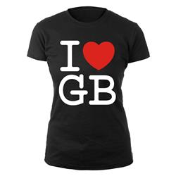 I Love GB On Black