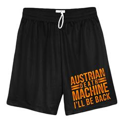 I'll Be Back Black Mesh Shorts