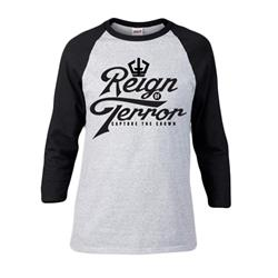 Script Heather Grey/Black Baseball Tee