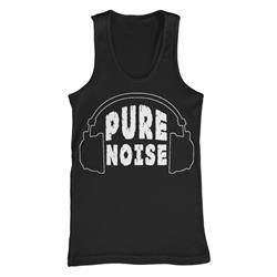 Headphones Black Tank Top