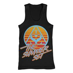 Retro Triangle Black Tank Top *Final Print!*