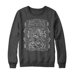 I Am Free Now Heather Charcoal Crewneck