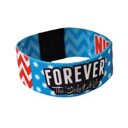 Custom Designed Reversible Elastic Wristband