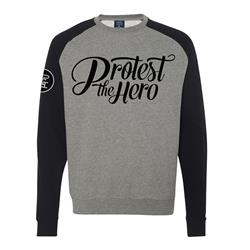 Logo Heather/Black Crewneck Small
