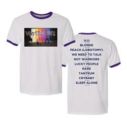 Tracklist White W/ Purple Ringer T-Shirt