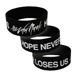 Hope Never Loses Us Black Wristband