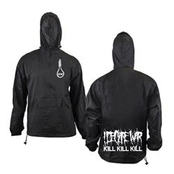 Noose Black Hooded Windbreaker