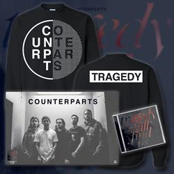 Tragedy Will Find Us CD + Crewneck Sweatshirt + Poster