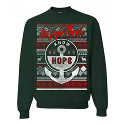 Know Ho Ho Hope Forest Green Crewneck