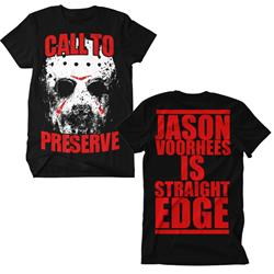 Jason Is Straight Edge Black *Sale! Final Print* $6 Sale Final Print! $6 Sale