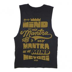 Mantra On My Mind Black Muscle Tee