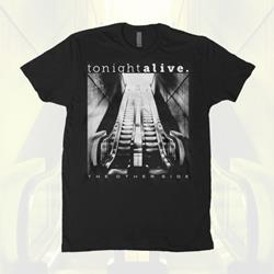 Black/White Album Cover Black T-Shirt