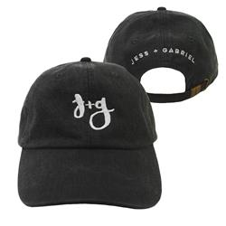 Jess And Gabriel Logo Black Dad Hat