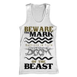 Beware The Mark White Tank Top
