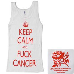 Keep Calm White Girl's Tank Top