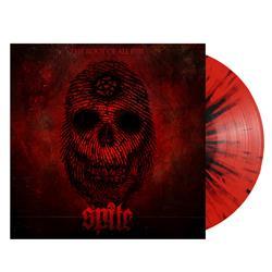 The Root Of All Evil Red W/ Black Splatter