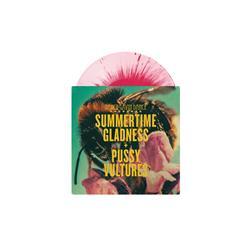 Summertime Gladness/Pussy Vultures Baby Pink W/ Magenta Splatter 7