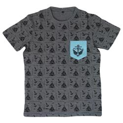Anchorbird Teal Pocket Tee