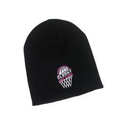 Hoop Logo Black Beanie