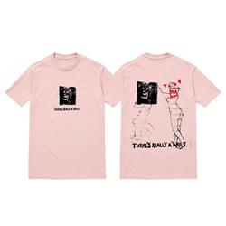 Wolf Stamp Pink