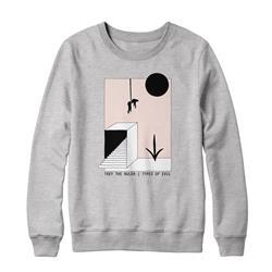 Types Of Evil Gray Crewneck Sweatshirt