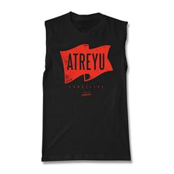 Flag Sleeveless Black Shirt