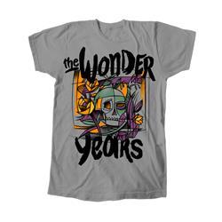 Skull Roses Grey T-Shirt