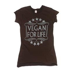 Motive Company Vegan For Life Brown Girl's T-Shirt