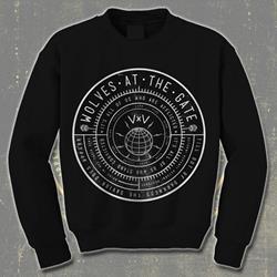 Compass Black Crewneck Sweatshirt