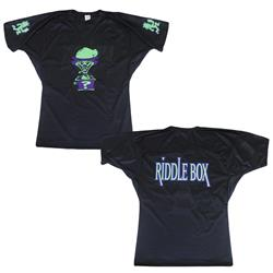 Riddlebox Black Football Jersey