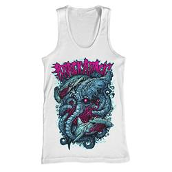 Shark Fight White Tank Top