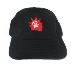 Liberty Red Logo Black Dad Hat