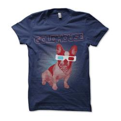 3D Dog Navy T-Shirt