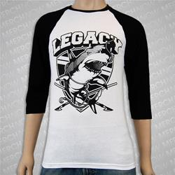 Shark Black/White Baseball Shirt *Final Print*