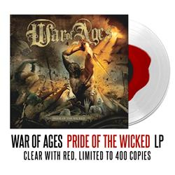 War Of Ages - Pride of The Wicked - Red & Clear LP
