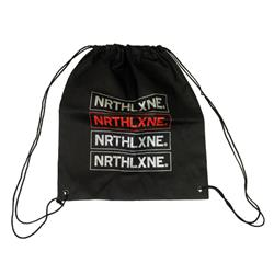 Bars Black Cinch Bag