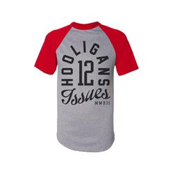 Hooligans 12 Heather/Red Raglan