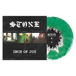 Inch of Joy White/Green Smash with Black Splatter