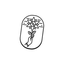 Flower Logo Pin