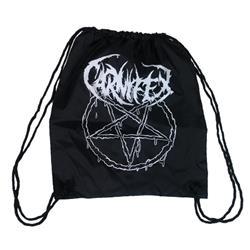 Pentagram Black Cinch Bag