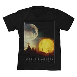 Rising Moon: Setting Sun Black T-Shirt