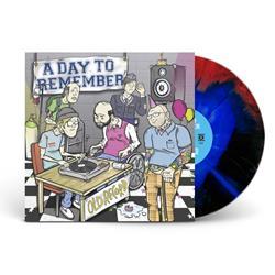 Old Record  Blue/Red/Black Strarburst