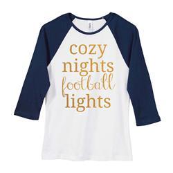 Cozy Football White/Navy Girl's Jersey
