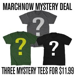 THREE MYSTERY TEES FOR $11.99