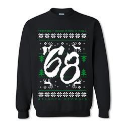 Rock N Roll Ugly Christmas Black Crewneck