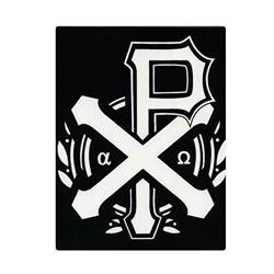 Chi Rho Symbol Black